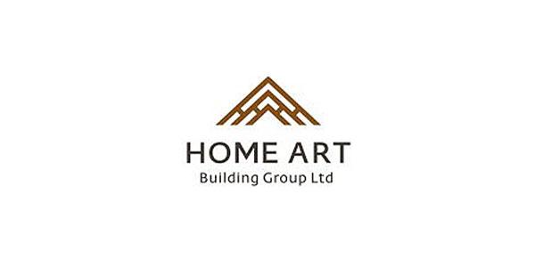 Mẫu thiết kế logo xây dựng của công ty Home-Art-Building-Group-LTD